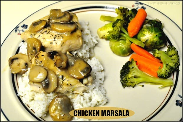 Chicken Marsala, is an Italian dish with chicken and mushrooms, in a Marsala wine sauce. Make this delicious Weight Watchers version in about 30 minutes!