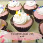 Chocolate Dream Cups with Raspberry Mousse