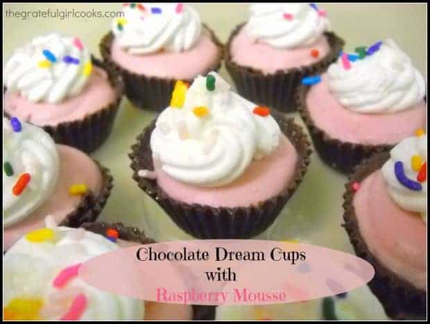 Chocolate Dream Cups with Raspberry Mousse / The Grateful Girl Cooks!