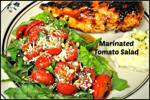 Marinated Tomato Salad / The Grateful Girl Cooks!