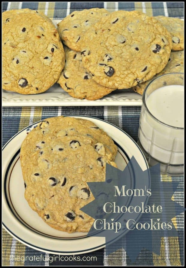 Can anything beat Mom's Chocolate Chip Cookies? They're huge, soft on the inside, crisp on the outside, and filled with chocolate chips and pecans.