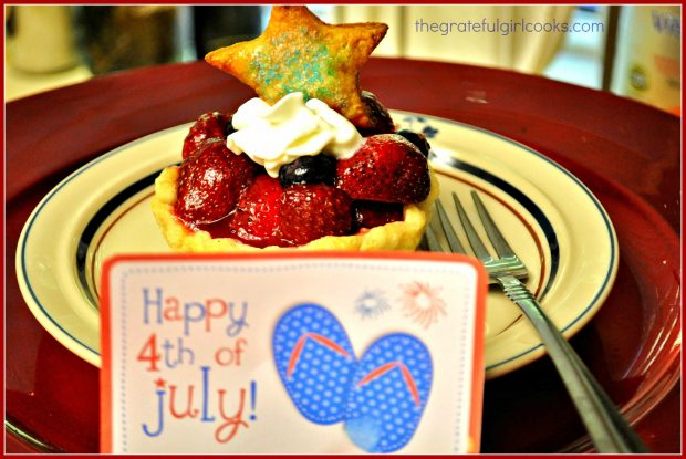 Red, White and Blue Fruit Tart / The Grateful Girl Cooks!