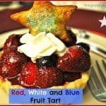 Red, White and Blue Fruit Tart