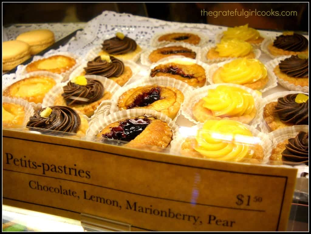 Pastries on display.