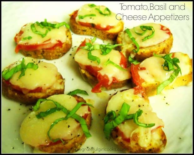Tomato, Basil and Cheese Appetizers / The Grateful Girl Cooks!