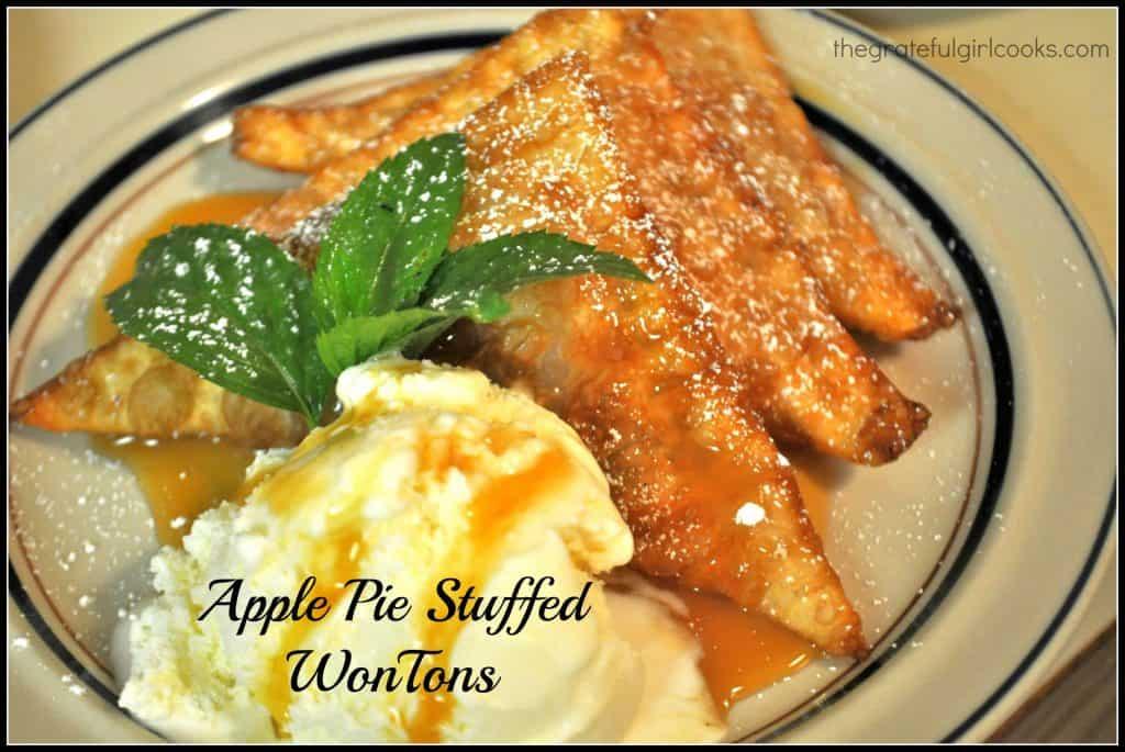 Apple Pie Stuffed WonTons / The Grateful Girl Cooks!