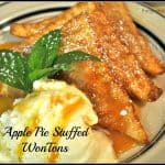 Apple Pie Stuffed WonTons