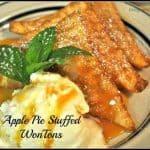 Apple Pie Stuffed WonTons