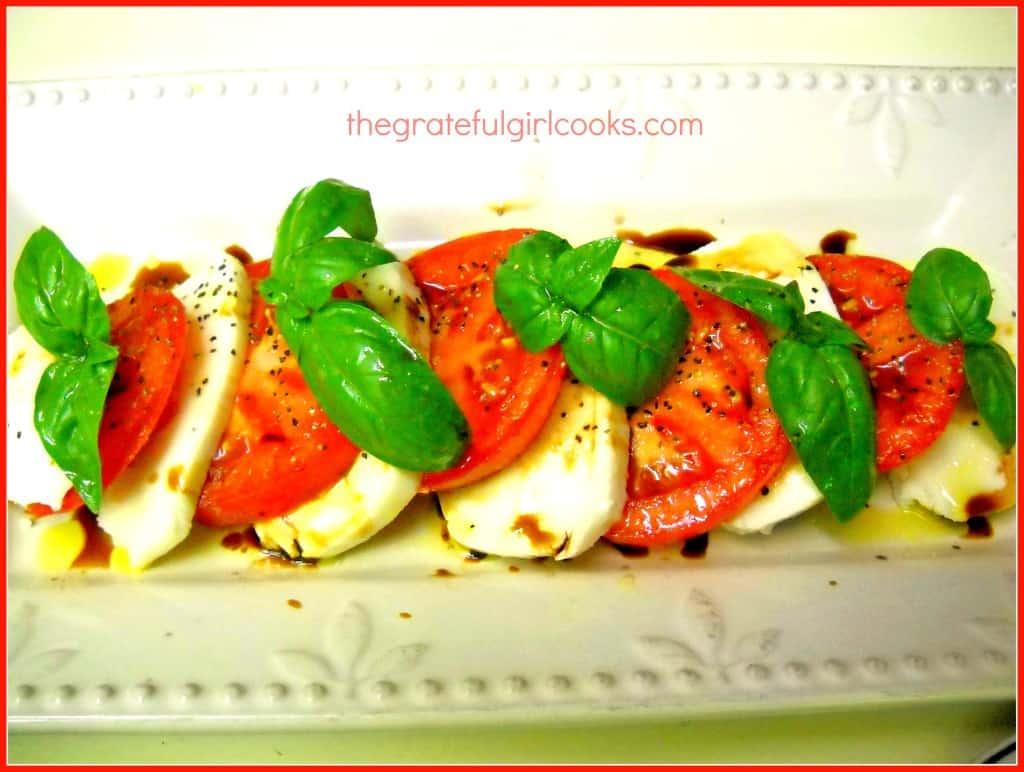 Caprese Salad / The Grateful Girl Cooks!