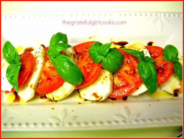 Caprese Salad / The Grateful Girl Cooks!