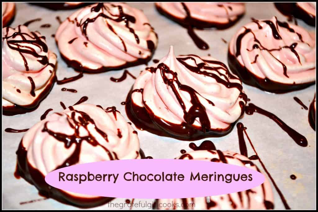 Raspberry Chocolate Meringues / The Grateful Girl Cooks!