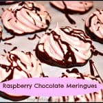 Raspberry Chocolate Meringues