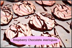 Raspberry Chocolate Meringues