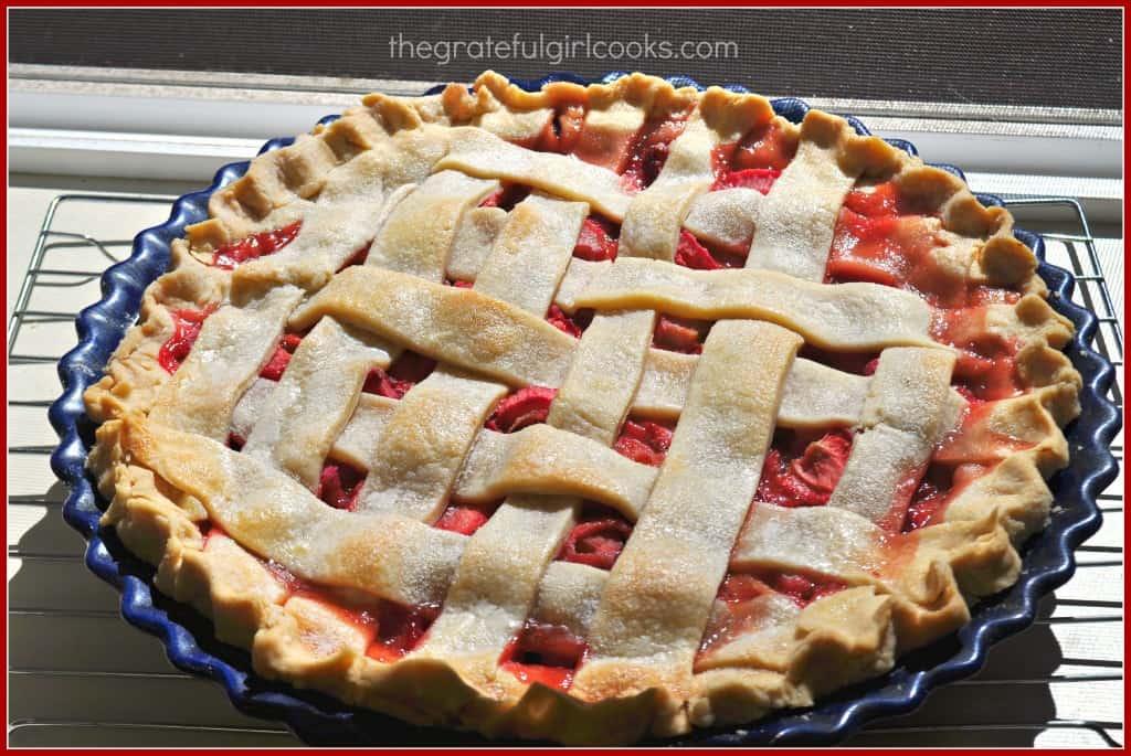 Strawberry-Rhubarb Pie / The Grateful Girl Cooks!