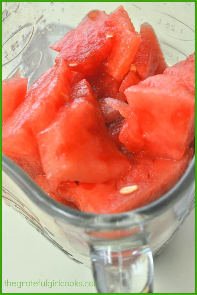 Watermelon, Lime & Mint Agua Fresca / The Grateful Girl Cooks!