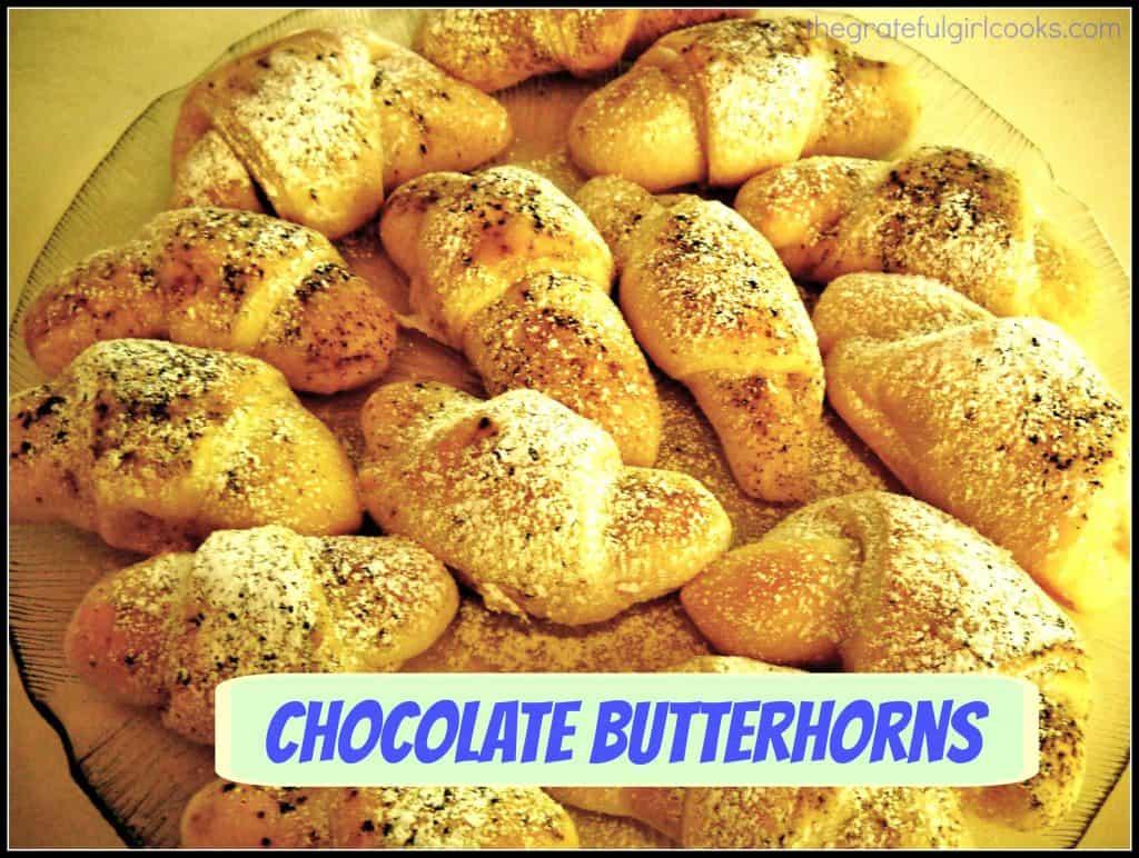 Chocolate Butterhorns / The Grateful Girl Cooks!