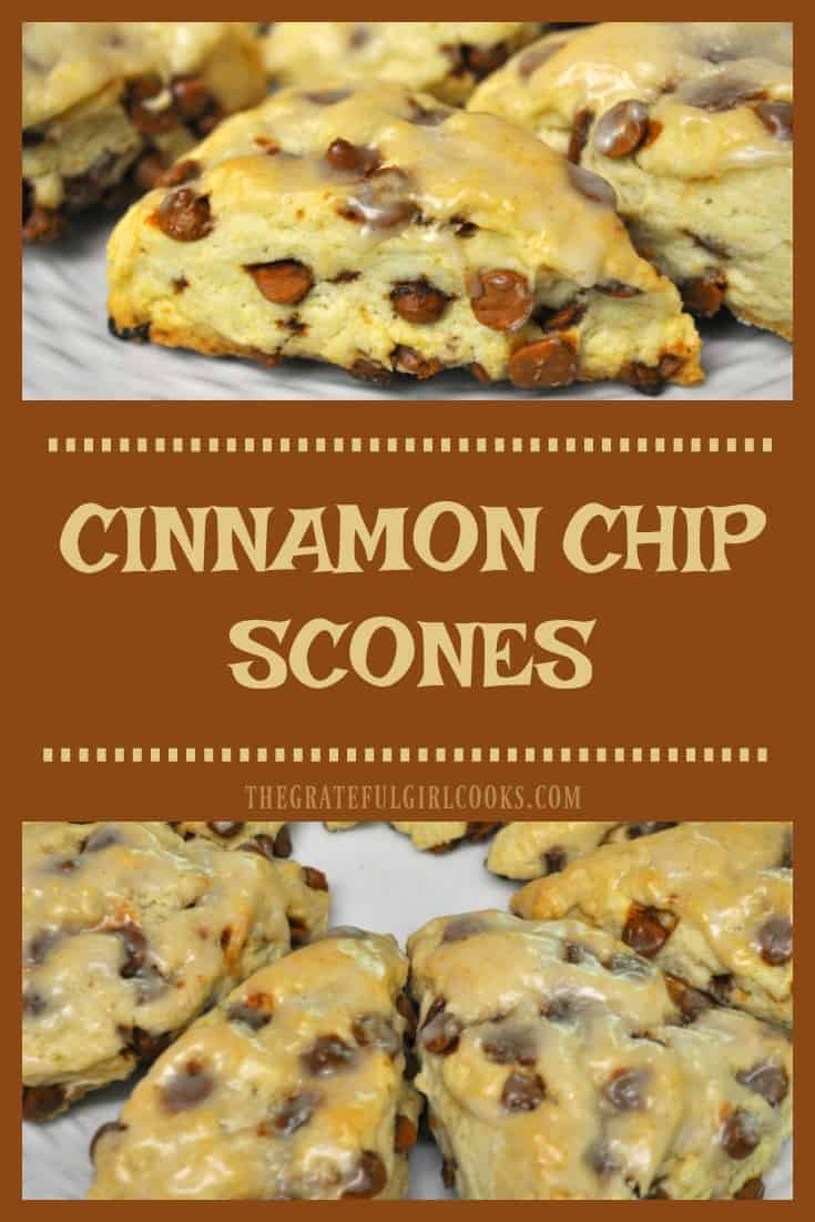 Make 16 absolutely delicious Cinnamon Chip Scones in under 30 minutes for a fraction of the cost of buying them at a coffeehouse!