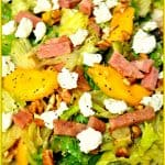 Grilled Ham Salad With Peaches And Goat Cheese