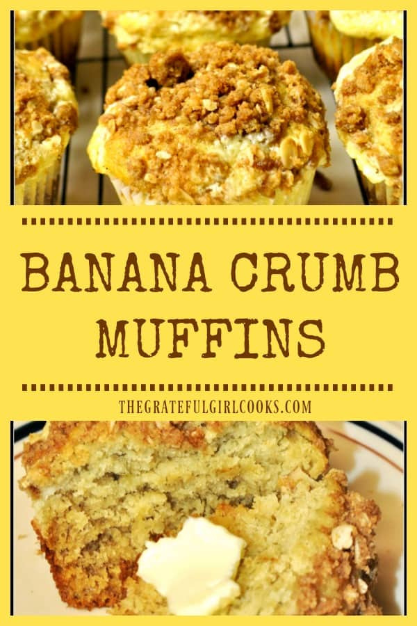 You're gonna love these delicious Banana Crumb Muffins, with a surprise cream cheese filling! Easy to make, they will be a family favorite breakfast or snack!