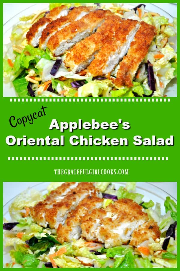 Make a copycat version of Applebee's Oriental Chicken Salad in the comfort of your own home. You'll love this delicious main course salad!