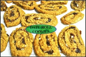 Date Roll Cookies / The Grateful Girl Cooks!