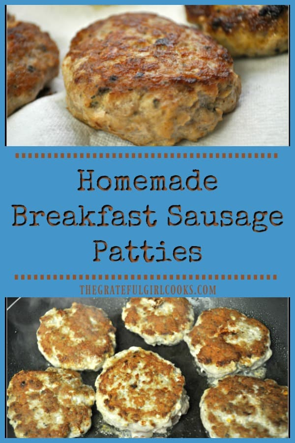 Long pin for homemade breakfast sausage patties