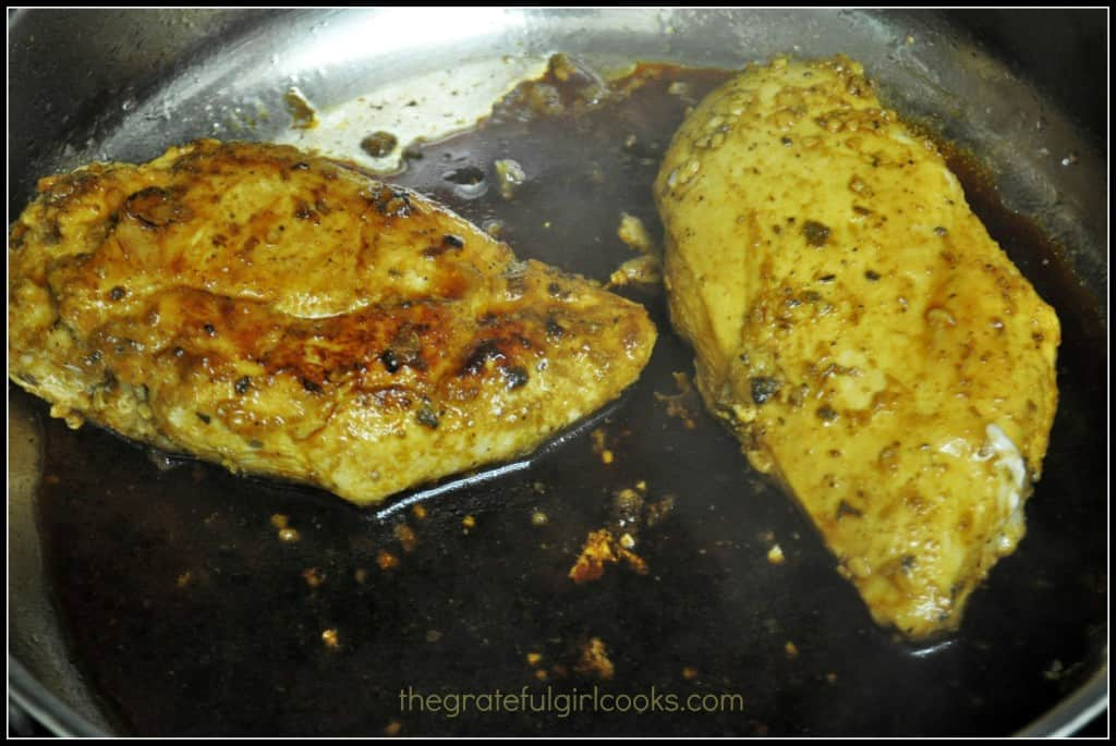 Marinated, Pan-Seared Mexican Chicken / The Grateful Girl Cooks!
