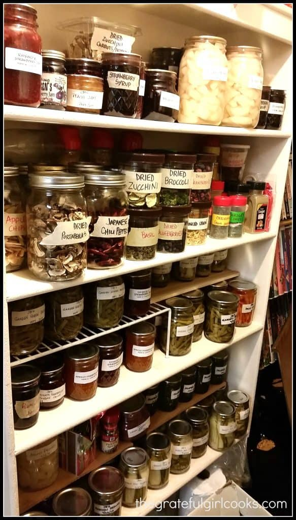 My Heart is Full... So Are My Panty Shelves! / The Grateful Girl Cooks!