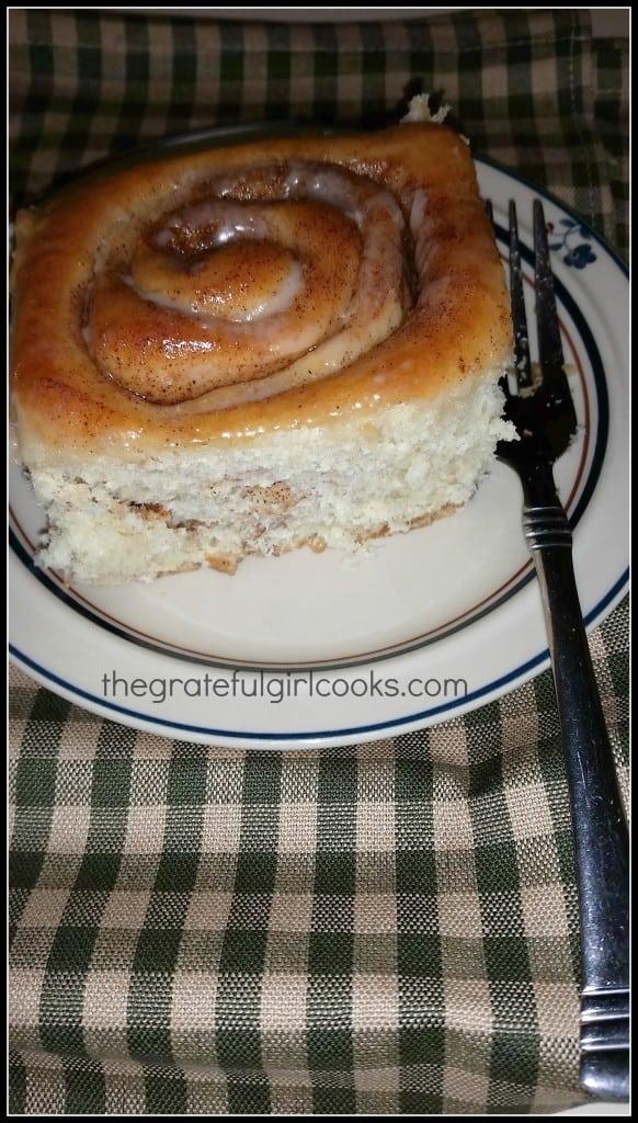 Homemade Cinnamon Rolls / The Grateful Girl Cooks!