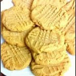 Flourless, 3 Ingredient Peanut Butter Cookies