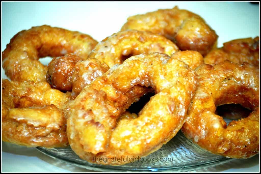 Glazed Pumpkin Buttermilk Doughnuts / The Grateful Girl Cooks!