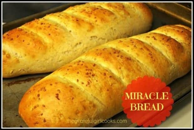You're gonna love this easy, homemade Miracle Bread. Recipe makes two loaves and is so easy, even my son can make it! That's gotta be some kind of MIRACLE!