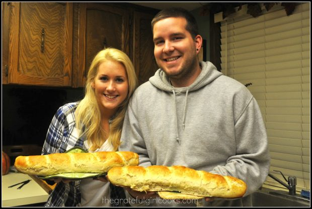 Our son and his girlfriend each made a loaf of homemade miracle bread!