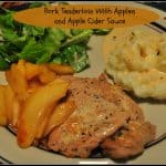 Pork Tenderloin With Apples And Apple Cider Sauce