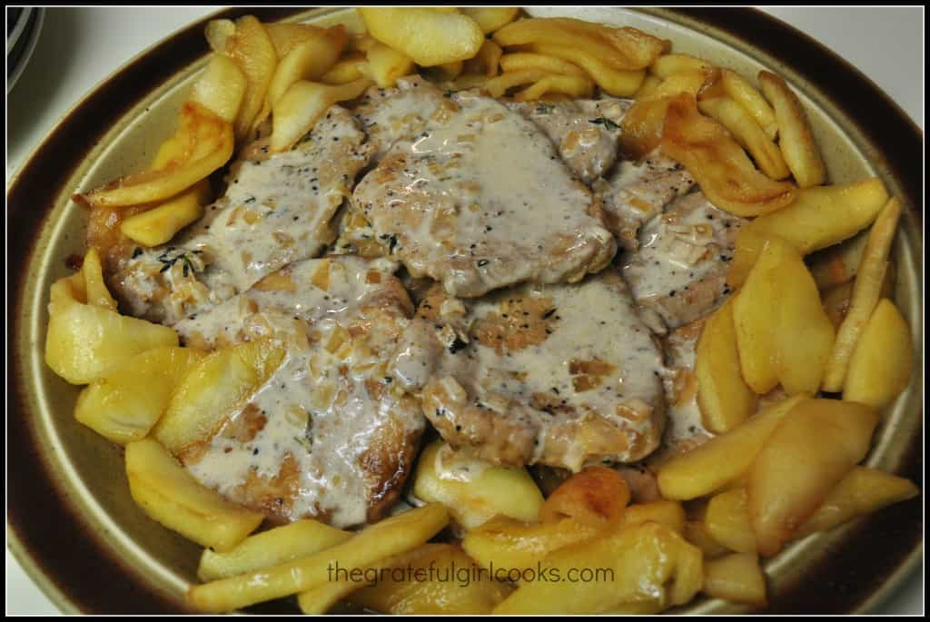 Pork Tenderloin With Apples And Apple Cider Sauce / The Grateful Girl Cooks!