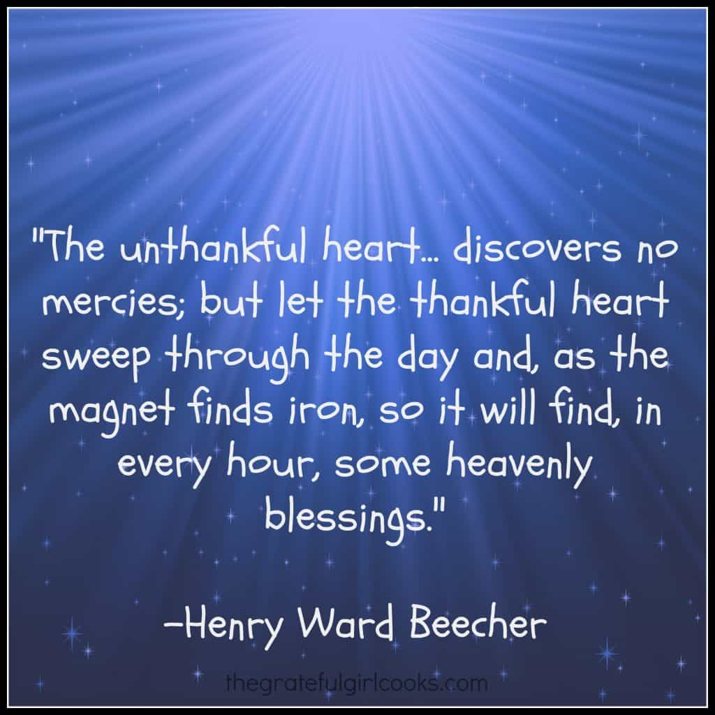 A Thankful Heart... / The Grateful Girl Cooks!