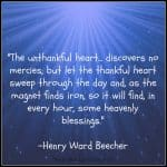 A Thankful Heart…