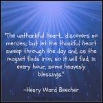 A Thankful Heart…