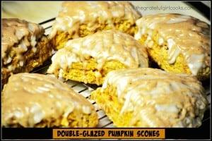 Double-Glazed Pumpkin Scones