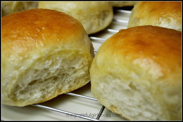 See how fluffy the homemade dinner rolls look? Yum.