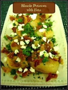Rissole potatoes with feta