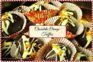 Chocolate-Orange Truffles / The Grateful Girl Cooks!