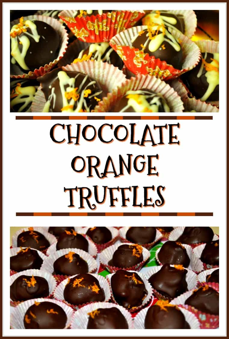 Chocolate Orange Truffles are delicious treats to enjoy during the holidays! Creamy orange flavored chocolate centers, dipped in chocolate to cover. YUM!