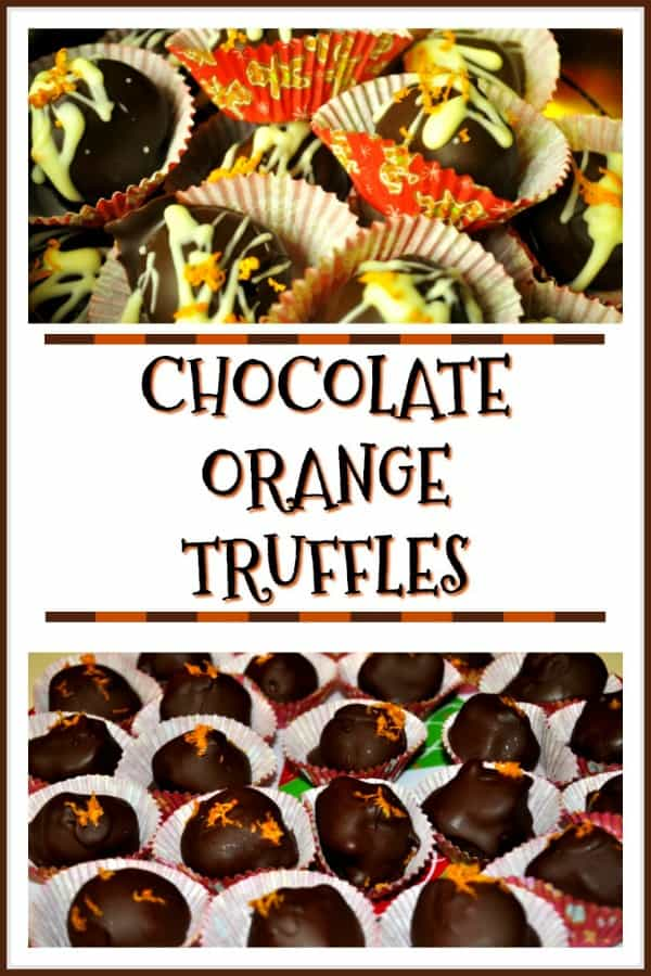 Chocolate Orange Truffles are delicious treats to enjoy during the holidays! Creamy orange flavored chocolate centers, and covered in chocolate. YUM!