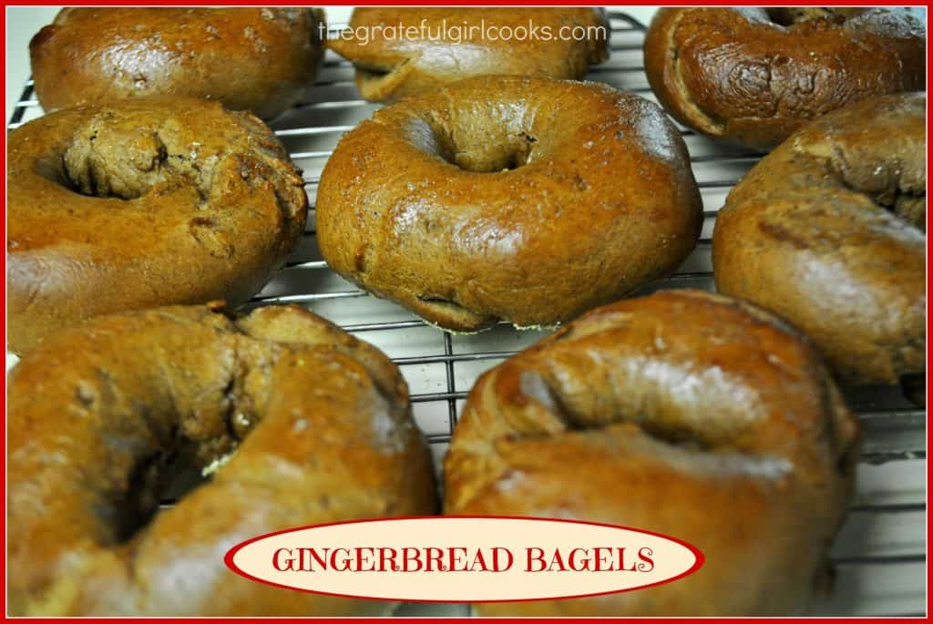 Gingerbread Bagels / The Grateful Girl Cooks!