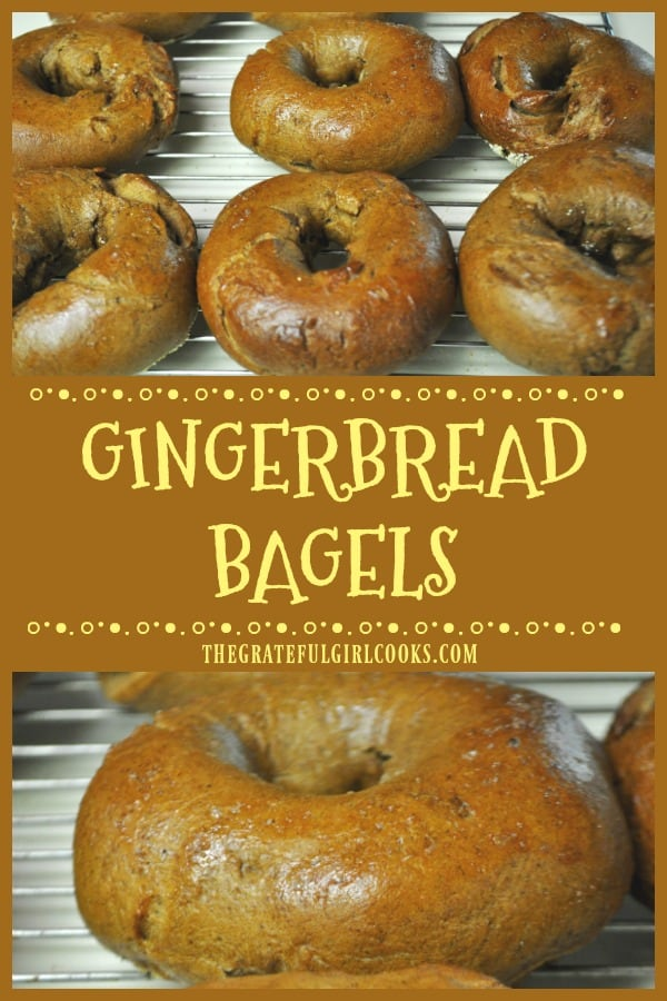 You will enjoy these New York style Gingerbread Bagels! Perfect treat for the holidays (or any time), they're boiled then baked, chewy AND delicious!
