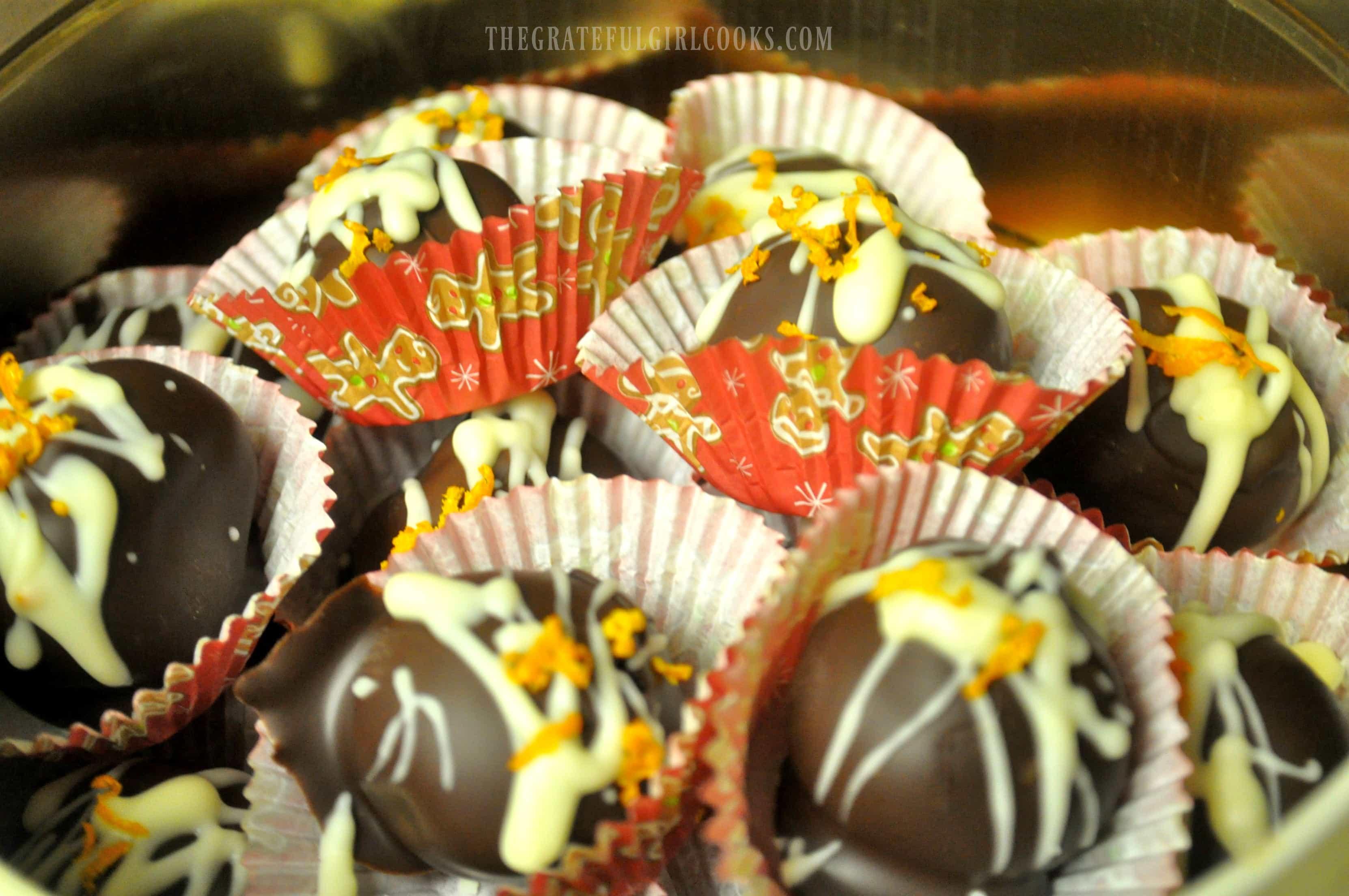 Chocolate-Orange Truffles / The Grateful Girl Cooks!