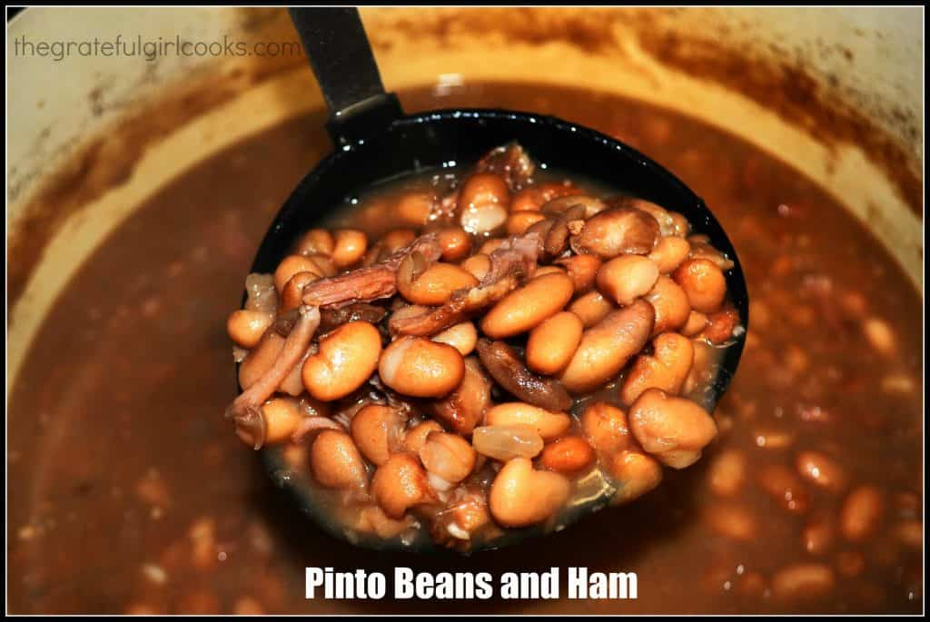 Pinto Beans And Ham / The Grateful Girl Cooks!