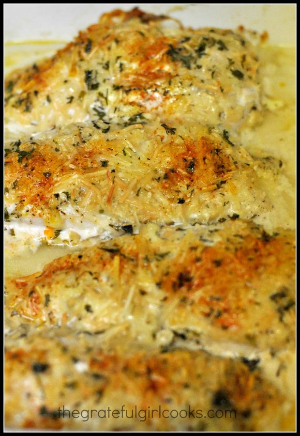 Chicken is baked and out of oven