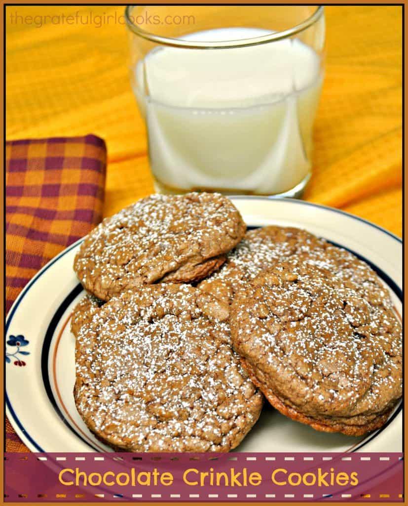 Chocolate Crinkle Cookies / The Grateful Girl Cooks!